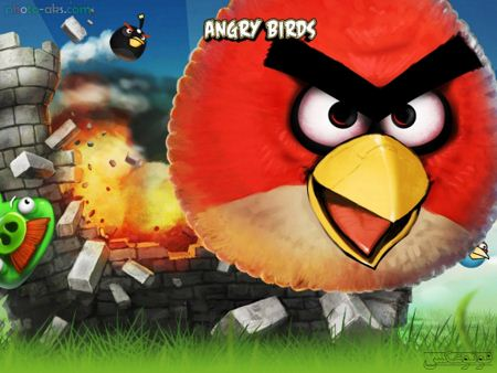 والپیپر پرندگان خشمگین angry birds wallpaper