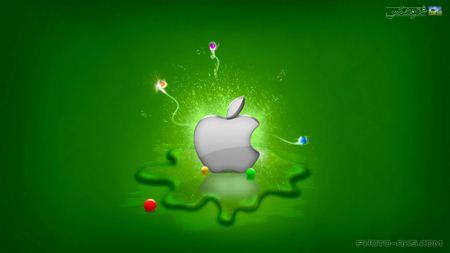 والپیپر لوگوی سبز اپل apple green logo