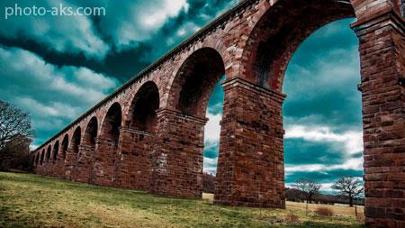 معماری پل آجری با کمان arches brick bridge