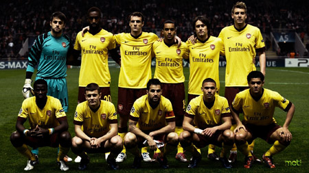 عکس دسته جمعی تیم فوتبال ارسنال arsenal london team