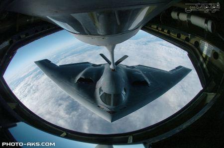 سوختگیری هواپیمای جنگنده b 2 spirit fueling