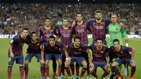 عکس تیمی بارسلونا 2016 barcelona club football