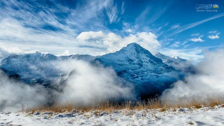 والپیپر بسیار زیبای کوهستان beautiful mountain nature
