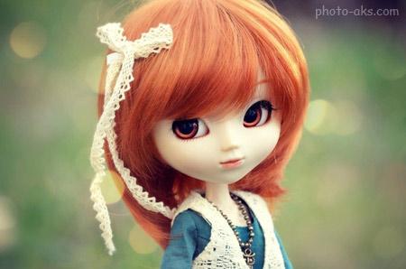 عروسک ناز دختر با موهای لخت beautiful doll wallpaper