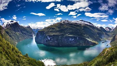 منظره رودخانه در نروژ beautiful norway wallpaper
