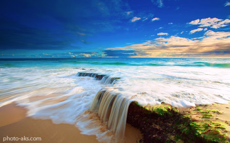منظره بسیار زیبای ساحل دریا beautiful sea beach