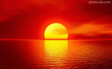 غروب آفتاب beautiful sunset