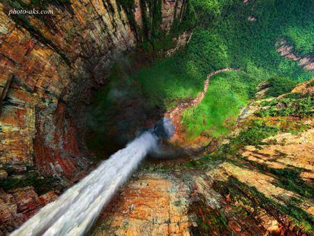 زیباترین نما از آبشار best view of waterfall