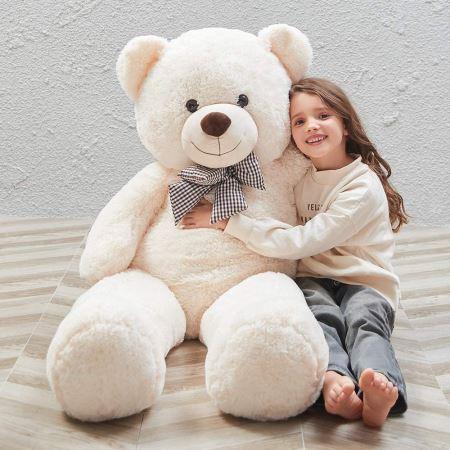 بزرگترین خرس عروسکی تدی big white teddy bear
