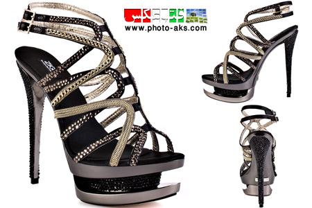 کفش پاشنه بلند زنانه 2014 black prom women shoes