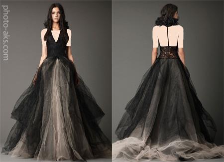 مدل لباس عروس مشکی black wedding dress 2014