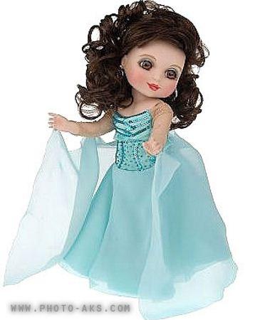 عروسک با لباس آبی blue dress doll