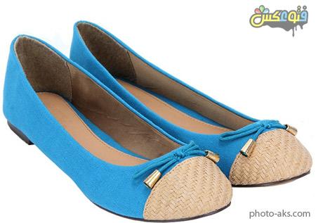 کفش دخترانه آبی جدید blue flat woman shoes