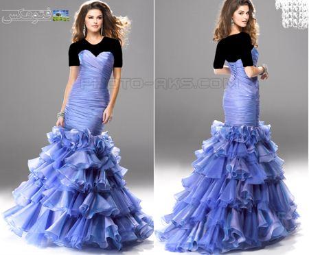 لباس مجلسی جدید 2013 blue prom dresses