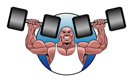 نقاشی ورزش بدنسازی bodybuilding clipart