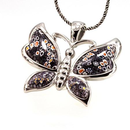 مدل گرنبند خوشگل پروانه butterfly necklace