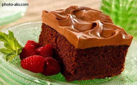 عکس کیک شکلاتی خوشمزه cake shokolati