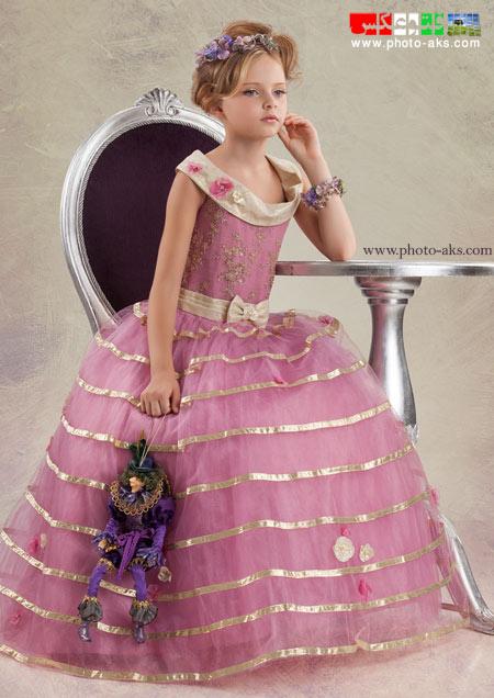 لباس مجلسی کودکانه صورتی childern new dress