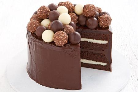عکس کیک شکلاتی ساده chocolate celebration cake
