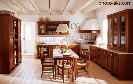 دکوراسیون چوبی آشپزخانه wooden kitchen decoration