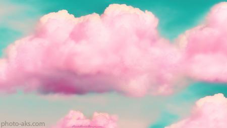 ابرهای صورتی زیبا pink effect clouds