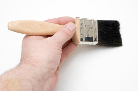 عکس قلمو نقاشی در دست color brush hand