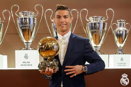 کریس رونالدو برنده توپ طلا 2016 cristiano ronaldo fifa ballon