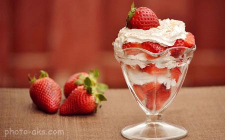 دسر بستنی خامه ای deser bastani khamei