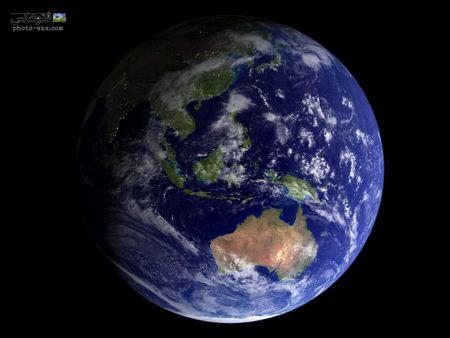 عکس بسیار زیبا از کره زمین earth map in night
