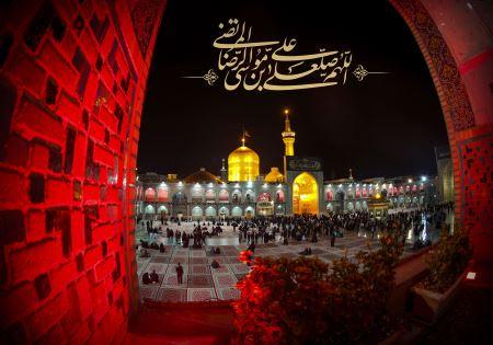 حرم امام رضا در شب شهادت emam reza shab shahadat