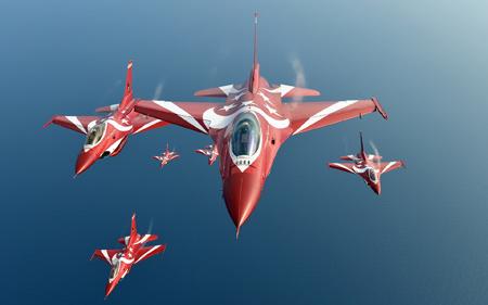 مانور جت های جنگی اف شانزده fighting falcon jet f16