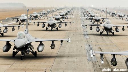 فرودگاه جنگنده های اف 16 jets military airfield