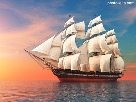 عکس کشتی های بادبانی aks keshti badbani