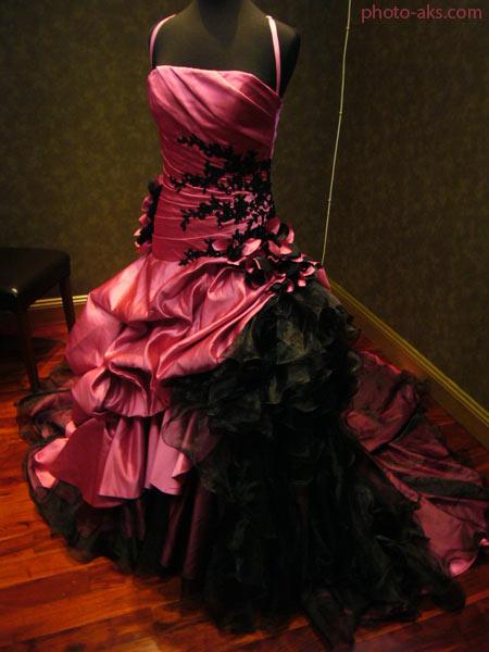 لباس عروس صورتی pink wedding dress