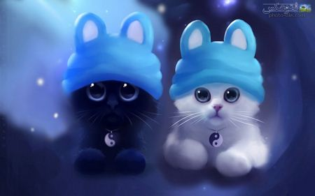 عکس دیجیتالی کارتونی گربه ها digital cartoon cats