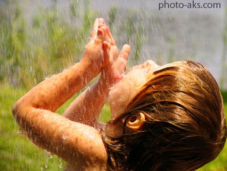 بازی در زیر باران girl in rain