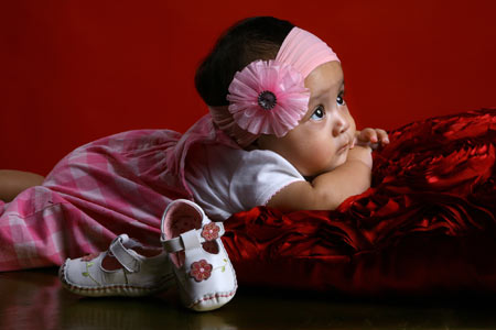 عکس آتلیه دختربچه ایرانی girl shoes baby