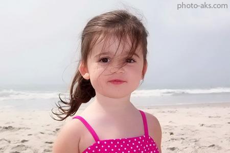عکس دختر ناز در کنار ساحل girl in beach