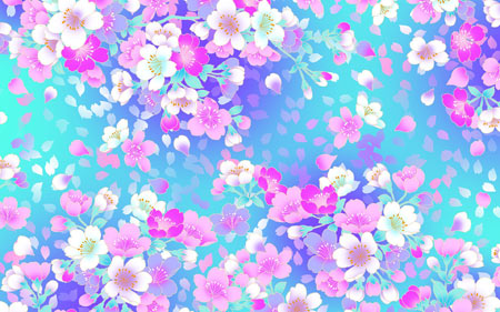والپیپر گلهای رنگارنگ دخترانه زیبا girly flowers wallpaper
