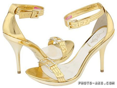 کفش طلایی زنانه golden shoes