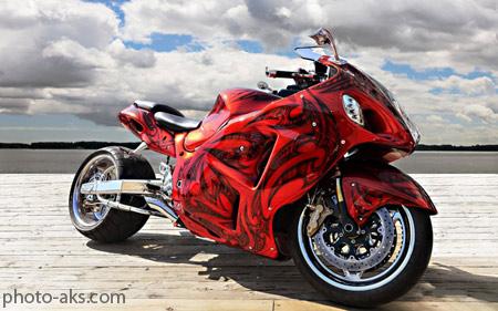موتور سیکلت سوپر اسپرت قرمز red motorcycle wallpaper