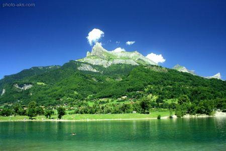 منظره سبز و جنگلی کوهستان green mountain