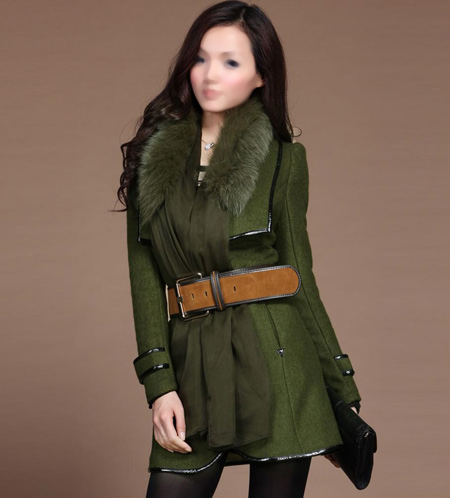 مدل پالتو کوتاه پاییزی دخترانه green short autumn dress