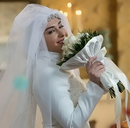 هانیه توسلی در لباس عروسی hanieh tavasoli lebas aroos