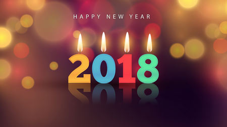 کارت پستال تبریک سال 2018 happy new year 2018