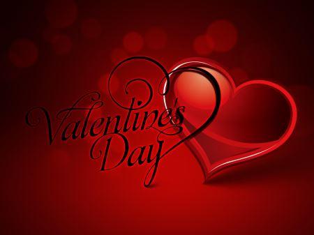 کارت پستال تبریک ولنتاین happy valentines day