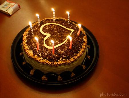 کیک تولد نامزدی قلب lighting hart cake