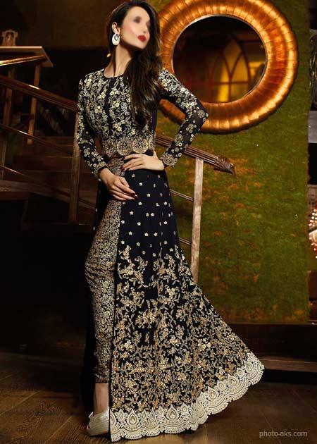لباس مجلسی هندی جدید indan prome dress