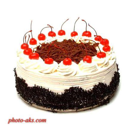کیک تولد خوشمزه گیلاسی keyke tavalod