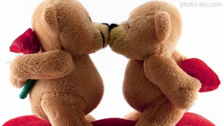 بوسه خرس های عروسکی khers valentine